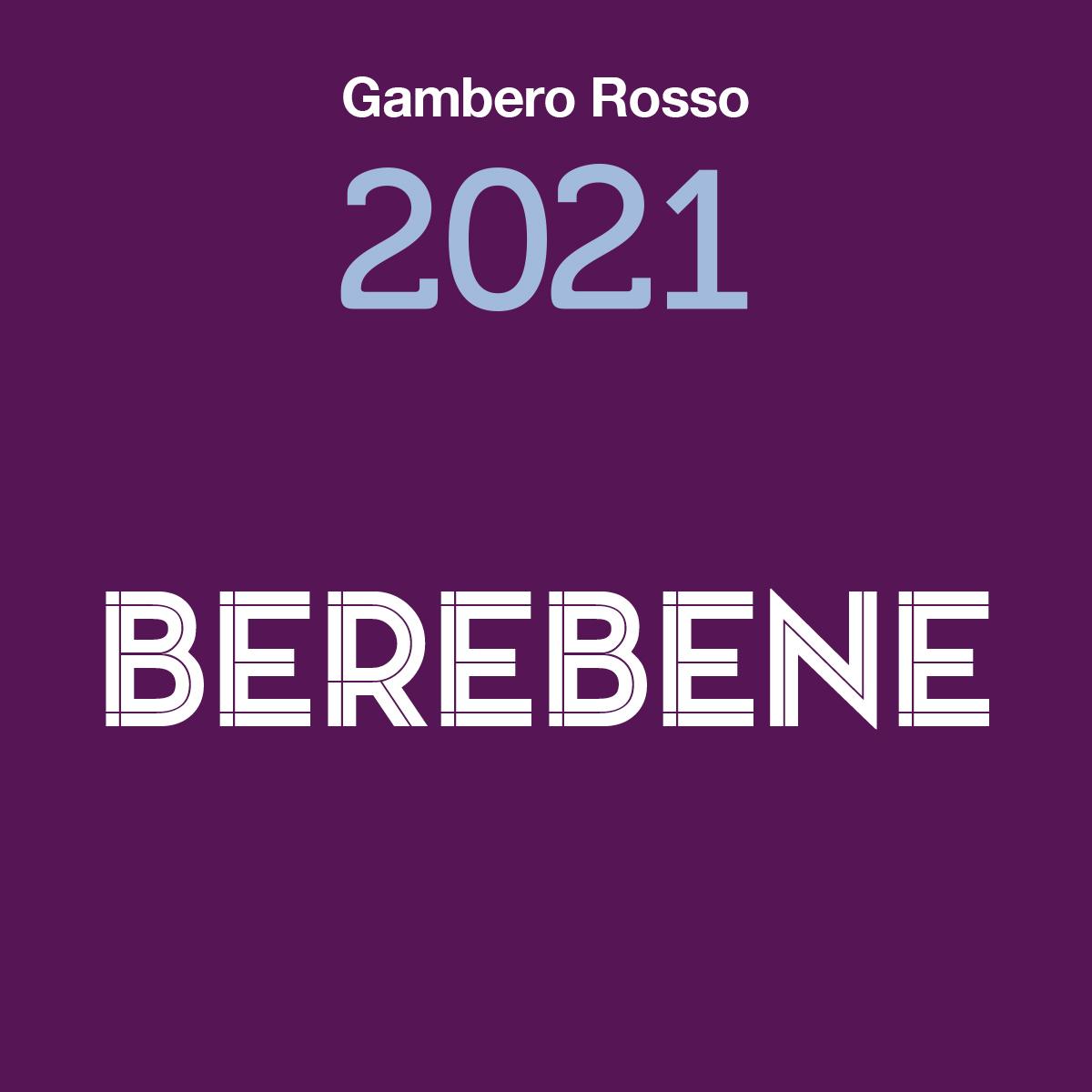 Aglianico 2017 receives the BereBene 2021 Award